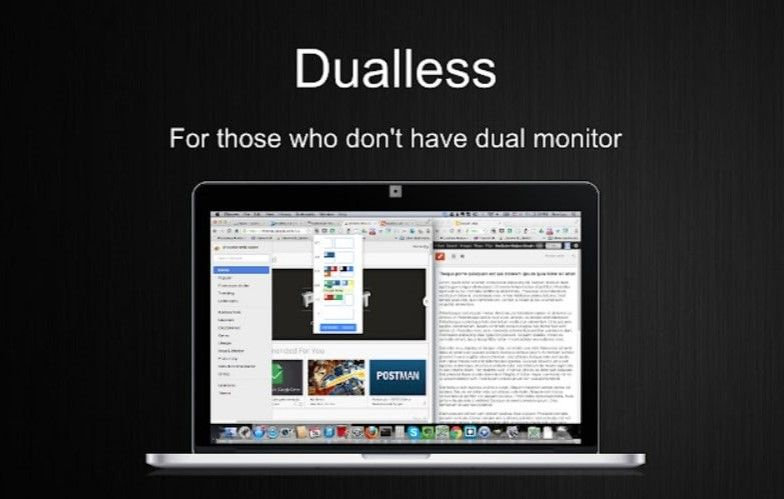 duallless extensions for google meet is a perfect add on if you want another window without any extra monitor