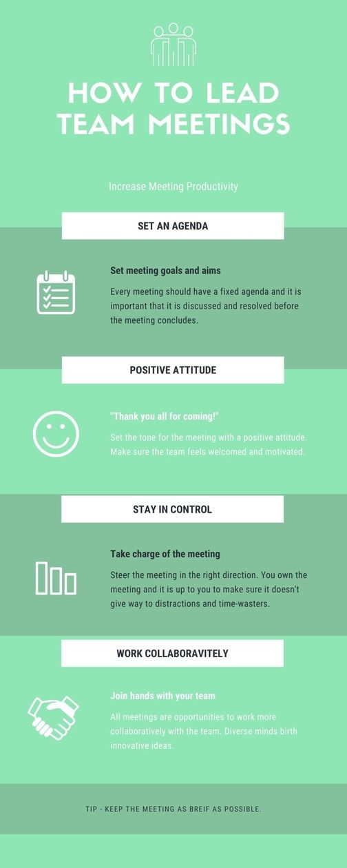 How to lead team meeting - ways to increase meeting productivity