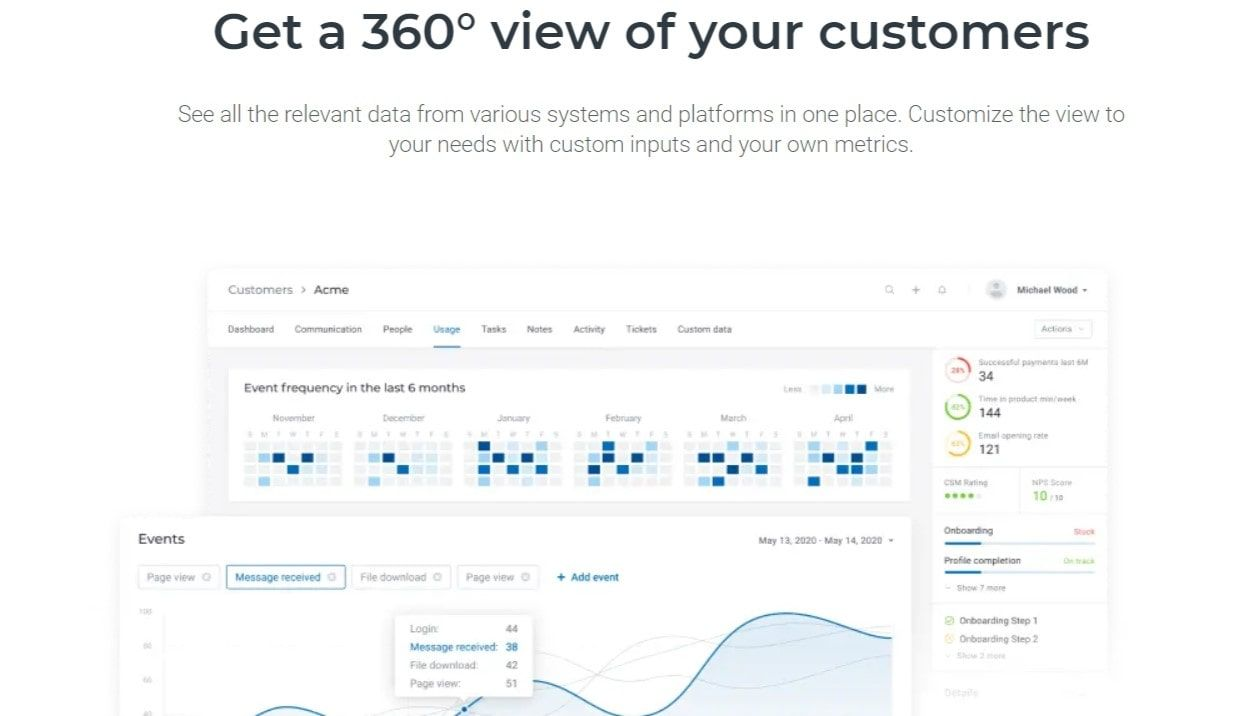 accelo: a cloud-based customer success software especially designed to books cs efforts of Saas companies