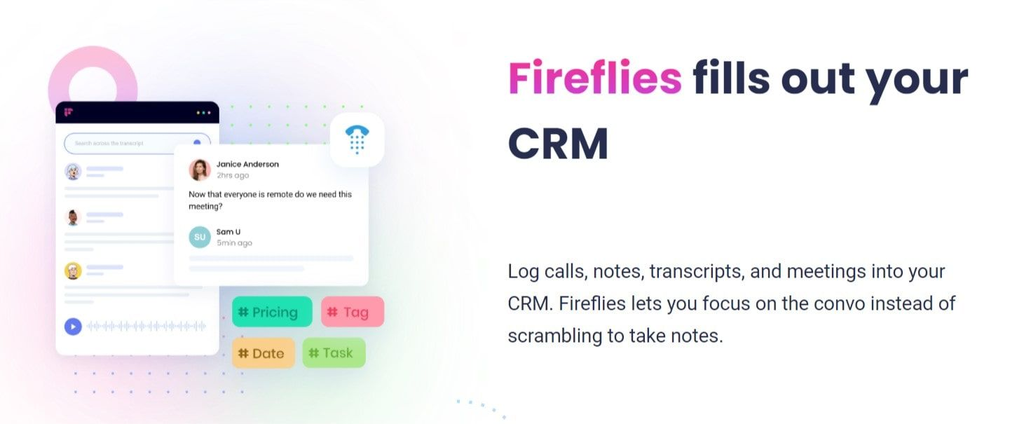 fireflies.ai is a perfect customer success software for teams to collaborate on customer meeting notes and customer concerns