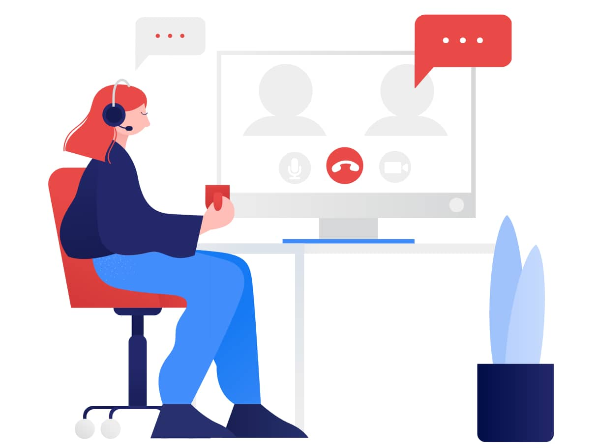 Meeting the team online during Virtual Onboarding