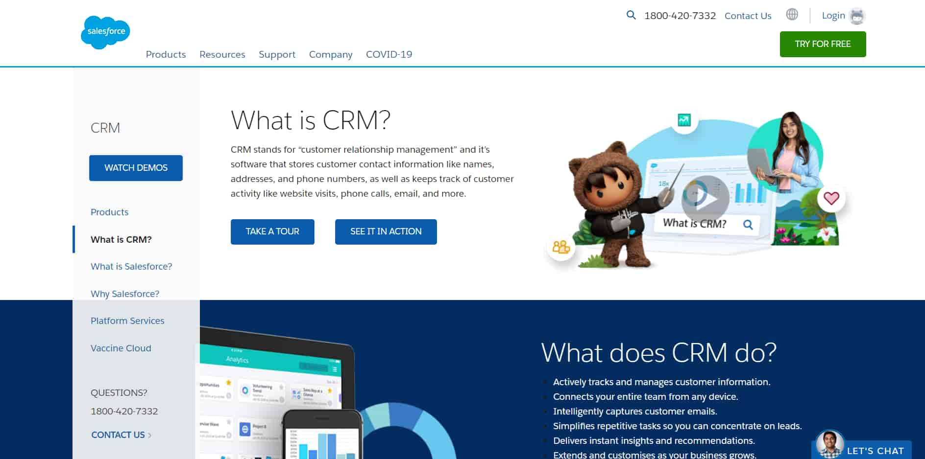 Salesforce CRM with its customized reports is the best CRM for small business