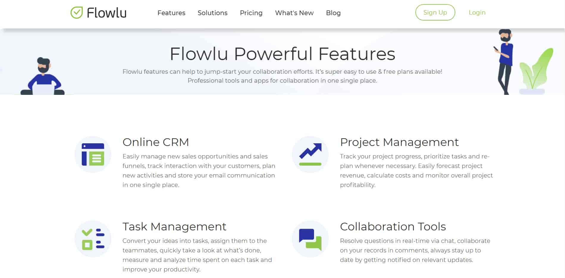 FlowLu is the best CRM for small business that want better collaboration and task management