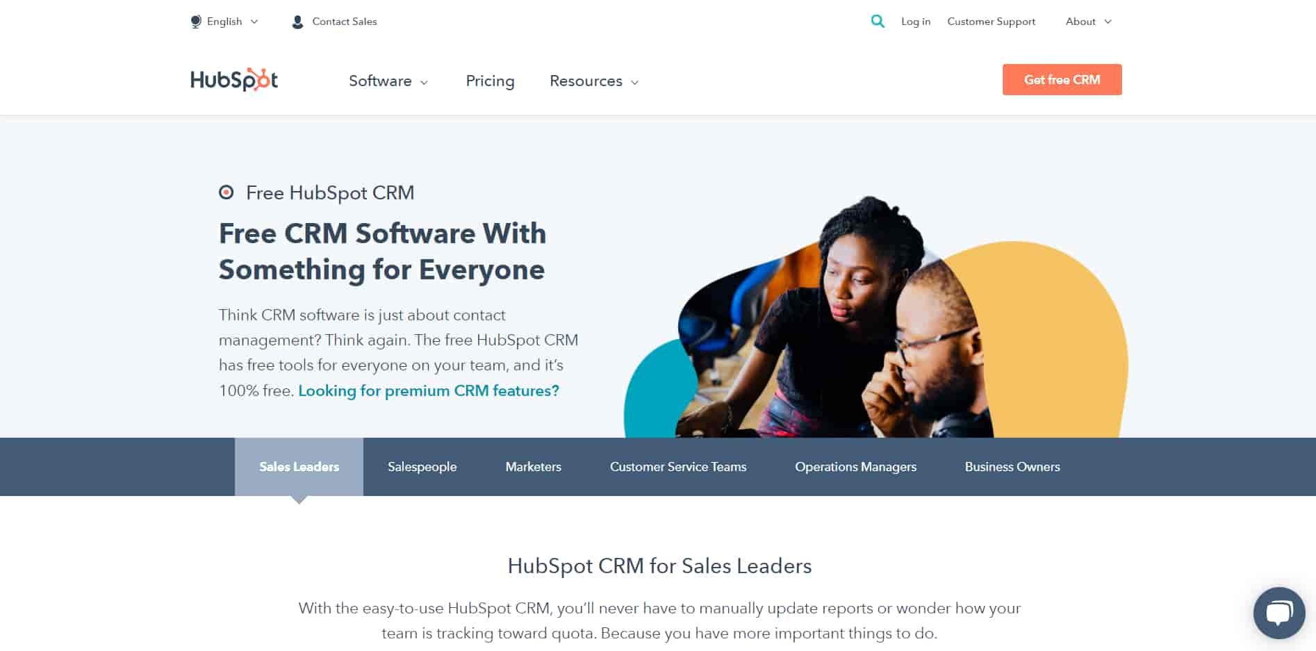 Hubspot CRM is one of the best CRM for small business in the market right now